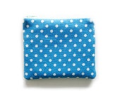 Zipper Pouch - Dots and Stripes in Blue - Available in Small / Large / Long