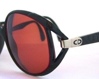 Rare 1980s DIOR  Eyeglasses // 80s Vintage Designer Frames // Black Frames Big Lens //  Model 2320 // Christian Dior