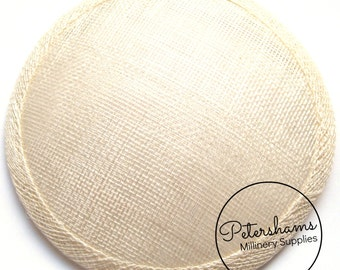 14cm Ivory Round Millinery Sinamay Hat Base for Fascinators, Cocktail Hats and Wedding Veils