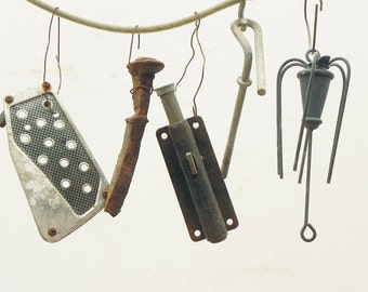 5 salvaged found objects for your assemblage Steampunk project