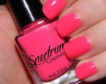 HOT STUFF Neon Pink Creme Nail Polish