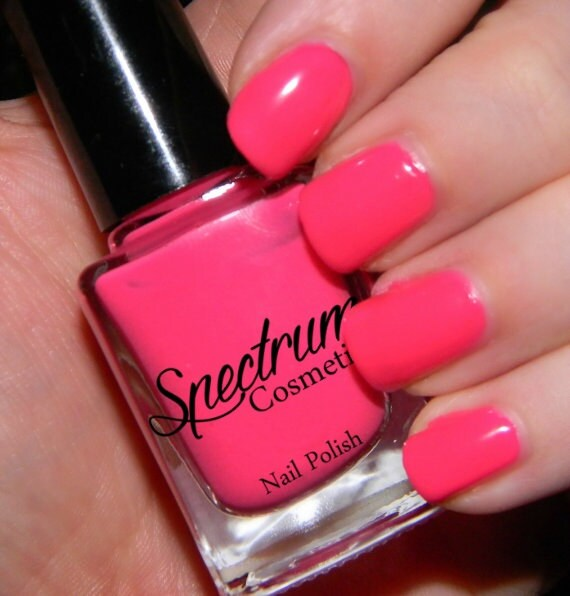 HOT STUFF Neon Pink Creme Nail Polish