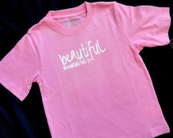Beautiful Pink Toddler 5T Shirt Ready to Ship