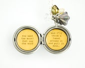 You want the moon Just say the word and I'll throw a lasso around it and pull it down - Women's Quote Locket - It's a wonderful life