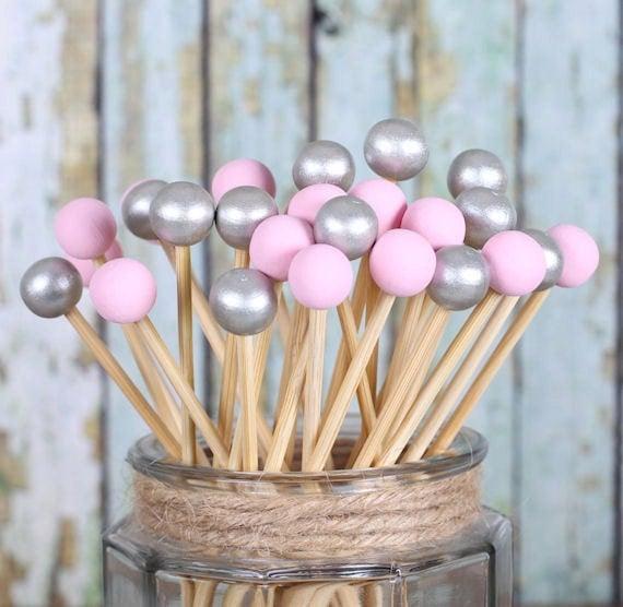 Pink Cake Pop Sticks