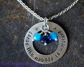 Dance Like Nobody is Watching- Necklace, Inspirational Jewelry, Custom Hand Stamped Washer Necklace
