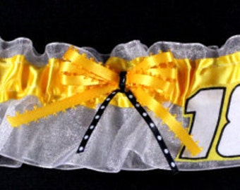 Kyle Busch NASCAR Bridal Garter, Can Be Personalized