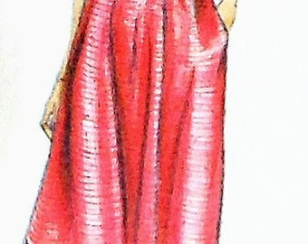 Retro Dress Sewing Pattern Simplicity 9943 Size 14 UNCUT