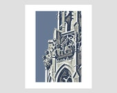 fourth presbyterian church steeple chicago illinois michigan avenue downtown city travel poster photo-graphic art print