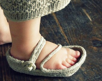 One rope sandal tutorial, earthing shoes, hemp rope sandals, natural footwear for children