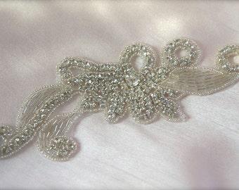 Beaded Bridal Headpiece, Crystal Rhinestone beaded rhinestone comb, Bridal headpiece comb, crystal comb, beaded headpiece rhinestone comb