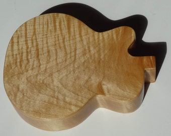 Gretsch Guitar Box, Tiger Maple, artistic jewelry box, instrument box, keepsake or memory box.