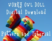 Tutorial - Wonky Owl Doll Digital Download