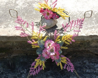 Pink and Yellow Flower Fairy Costume Set