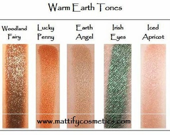 Naked Smoky Eye Shadow Set: Warm Earth Tones Fall Eye Makeup Kit (5 Piece)  Copper / Naked / Sparkly Brown Beige