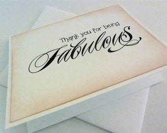 Thank You Card for Bridal Party, Wedding Attendant Notecard, All Occasion, Vintage Inspired