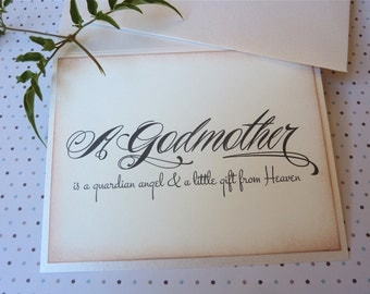 Will You Be My Godmother, Vintage Inspired Godparent Card, For My Godmother, Godmother Card