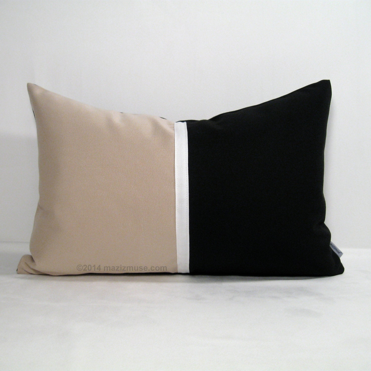 Color Block Pillow Cover Modern Outdoor Pillow Cover by Mazizmuse