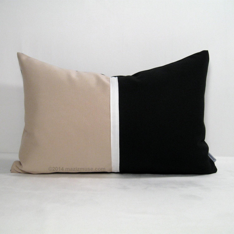 Modern Outdoor Pillow : Color Block Pillow Cover Modern Outdoor Pillow Cover by Mazizmuse