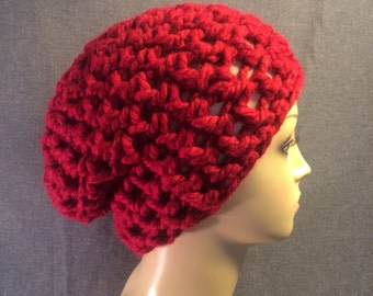 Red Slouch Hat Free Shipping