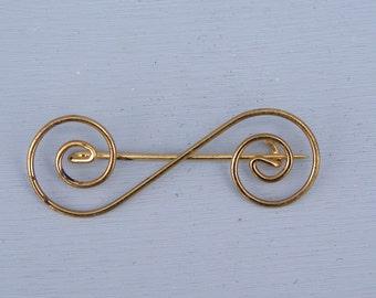 Vintage Scroll GP Pin