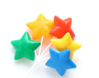 Rainbow Star Balloon Cupcake Toppers (3)