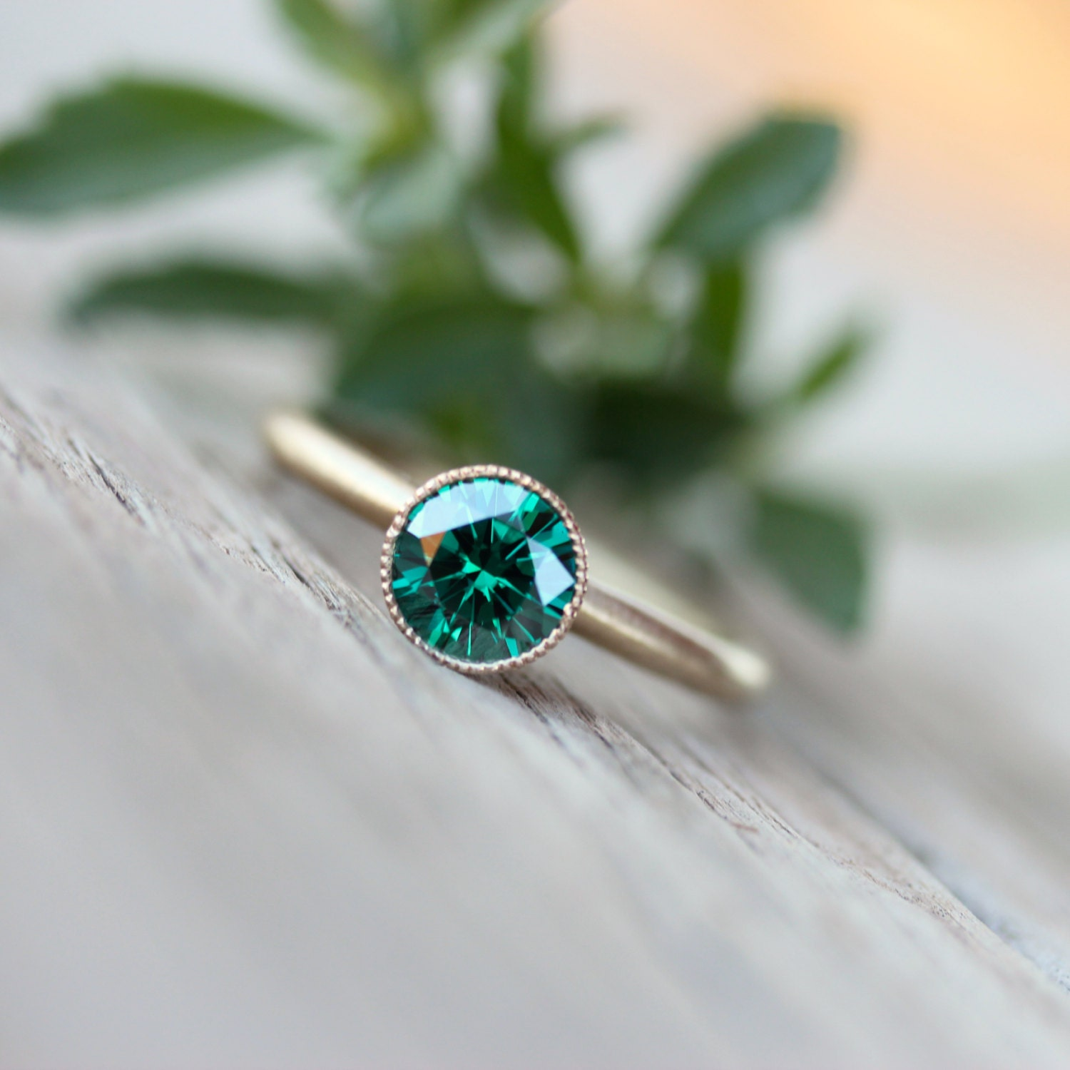 beautiful emerald engagement rings etsy. Black Bedroom Furniture Sets. Home Design Ideas