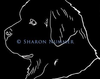 Original Newfoundland Dog  Vinyl Decal by Sharon  Nummer