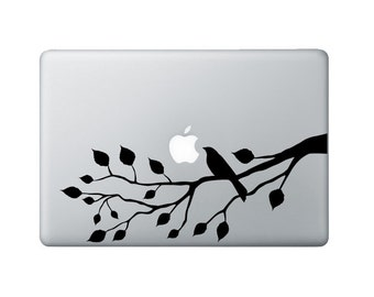 Bird on a Branch Macbook Decal - Branch Laptop Decal - Bird Sticker