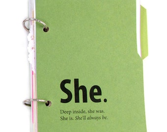 Private Journal, Secret Diary with Writing Prompts: She journal for girls and women in green