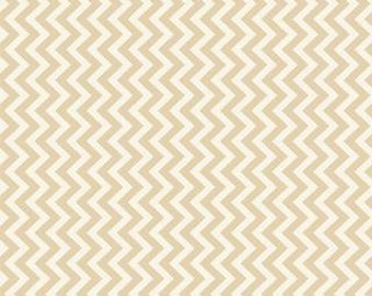 Muslin Mates by Moda Fabrics, Mates Chevron Natural 1/2 yard total