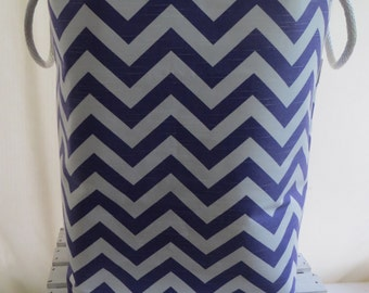 Laundry Hamper Toy Basket Storage bin for the Nursery Chevron 12 x 10 x 20 Choose your colors water repellent linings available