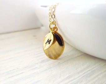 Gold Locket Necklace, Personalized Locket Necklace, Engraved Jewelry, Gold Initial Necklace, Tiny Locket, Photo Locket Necklace, Bridesmaid