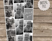 Vintage Retro Photo Booth Template Frame for instant download