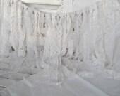 "Luxurious Lacey White Shabby Garland  18"" length Wedding Bridal"