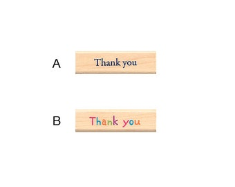"Pretty Japanese ""Thank You"" Wooden Rubber Stamp for Cards, Invitations, Tags, Scrapbooking, Packaging, Party Favors"