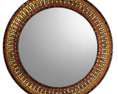 Gold, Brown, & Copper Mosaic Mirror
