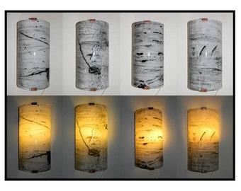 Fused Glass Aspen Trunk Light Sconce