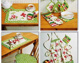 Kitchen Accessories Pattern, Double Oven Mitt Pattern, Apron Pattern, Butterick Sewing Pattern 5660
