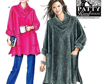 Loose Fit Tunic Top Pattern, Easy Knit Pants Pattern, Misses Top and Pants Pattern, Sz 6/8  to 26, Simplicity Sewing Pattern 2289