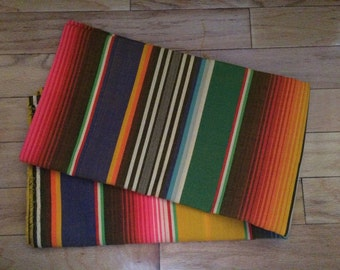 Serape Sarape Yellow Tone Tribal Mexican Fabric Ethnic Yard Colorful