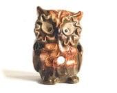 Vintage Enesco Ceramic Owl Tea Light Figurine