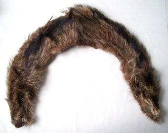 vintage real beaver fur stole wrap pelt collar womens high fashion accessories accessory animal plush brown tan ladies