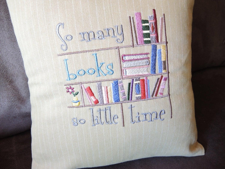 Decorative Throw Pillows With Words : Decorative Pillow Throw Pillow Books Words Housewares