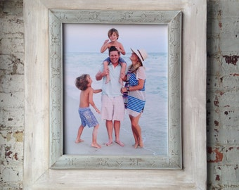 16x20 Shabby Chic Weathered Portrait Frame Open Back