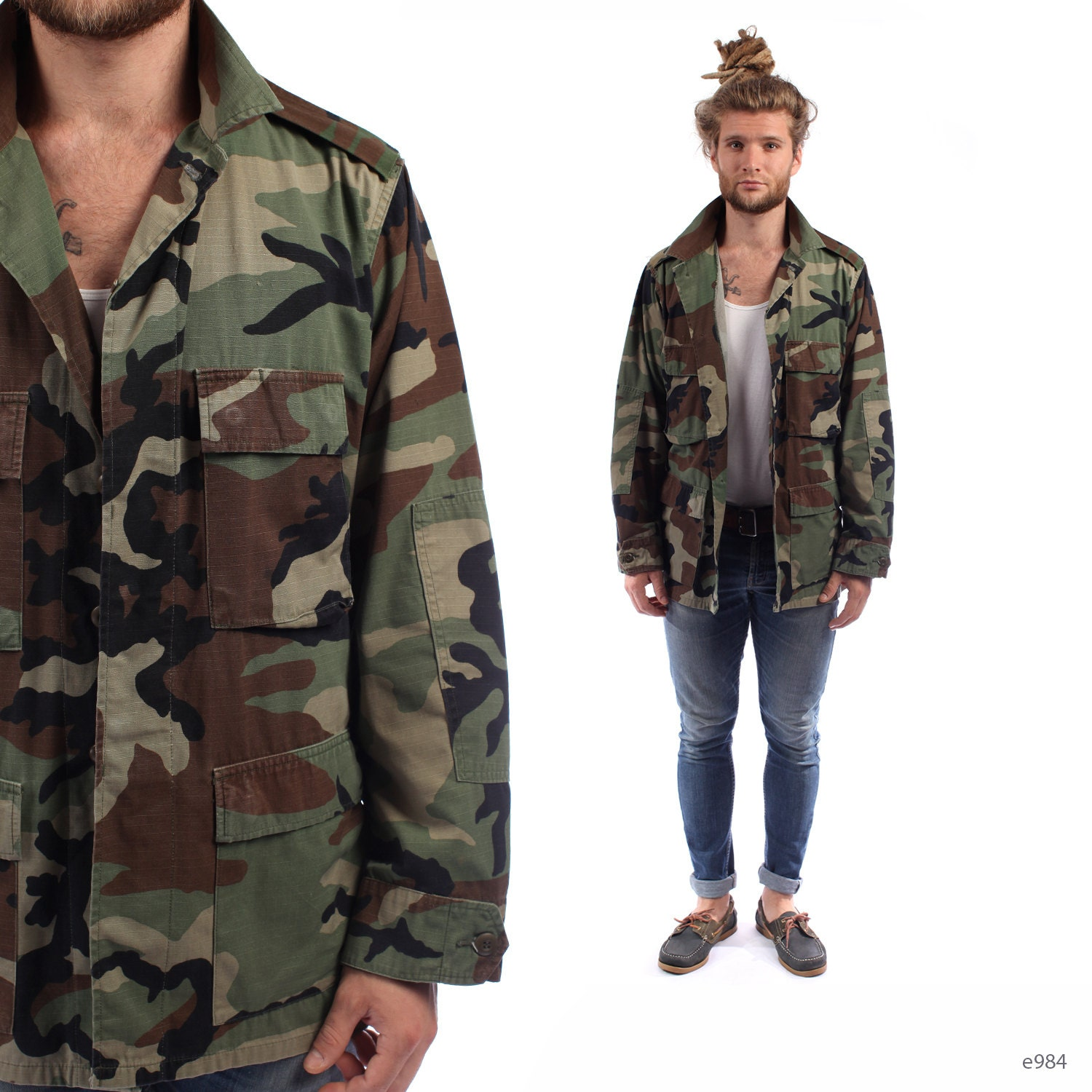 So if you are looking to buy a camouflage army combat jacket or a khaki army jacket to go hunting or hiking in, or a woollen greatcoat to brave the elements, you've found the right shop. Mens army jackets and genuine military coats for sale from Forces Uniform and Kit, the genuine army surplus clothing company, in the UK.