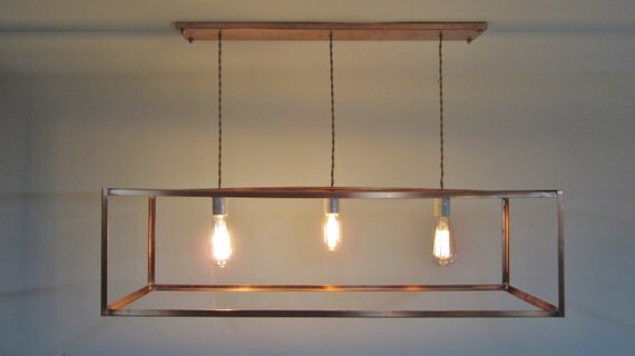 The Mod Box Chandelier Industrial Copper Cage Chandelier – Industrial Chandeliers