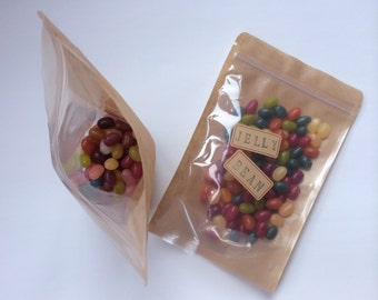 10 Stand Up Zip Pouches -small size (about 90-100g)