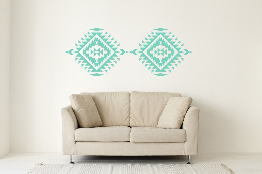Southwest Wall Decor southwestern decor navajo wall decal geometric wall decal