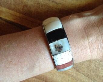 Jewelry. Vintage. Artisan Metal Cuff Bracelet